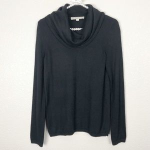 LOFT Cowl Neck Black Sweater XS